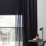 sheer curtains and roller blinds