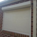 motorised window roller shutter
