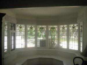 roman blinds bay window