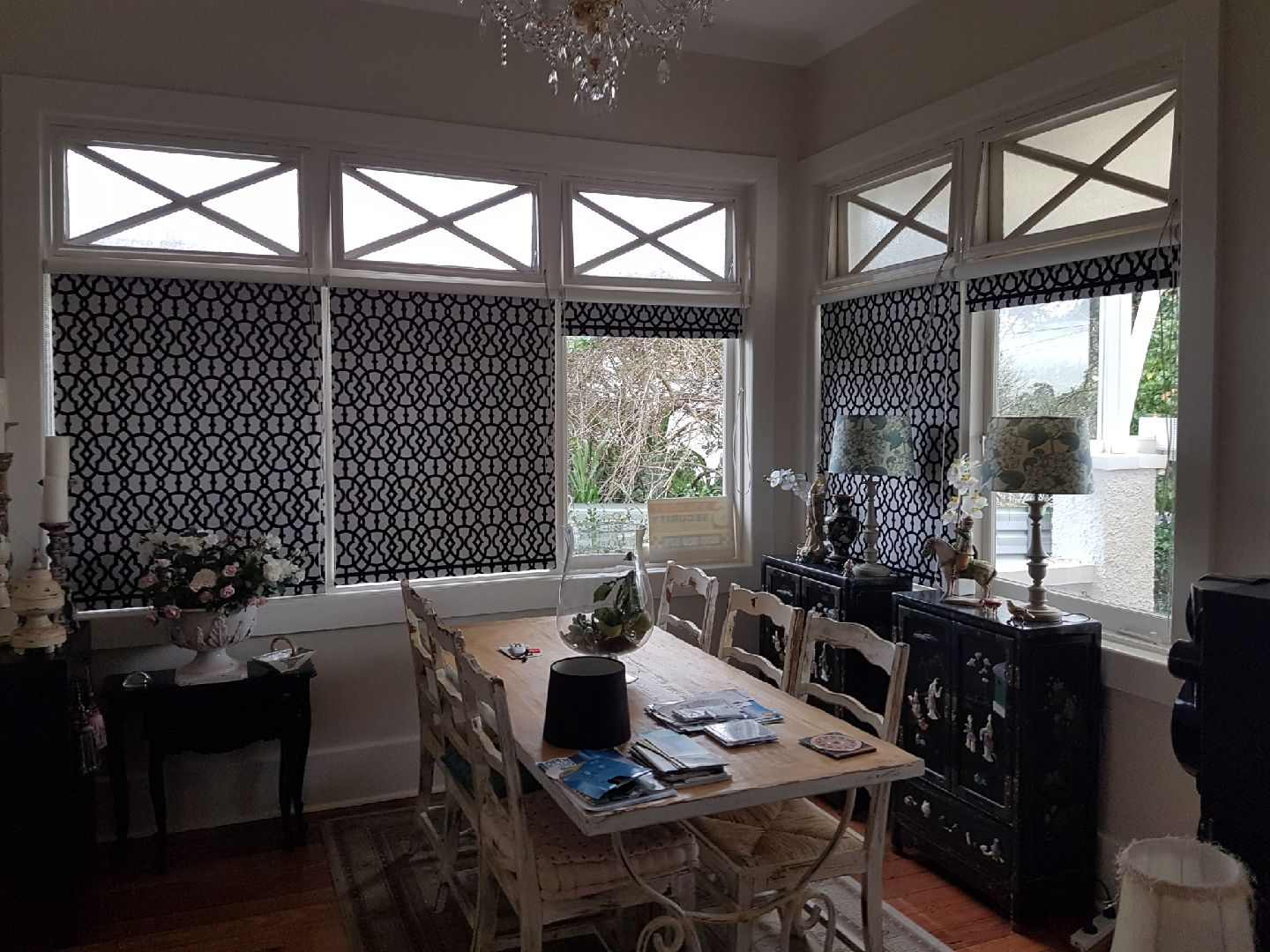 Patterned Roller Blinds with Trims