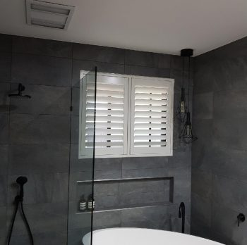 plantation shutter bathroom
