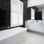 plantation shutters bathroom