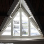triangle plantation shutter