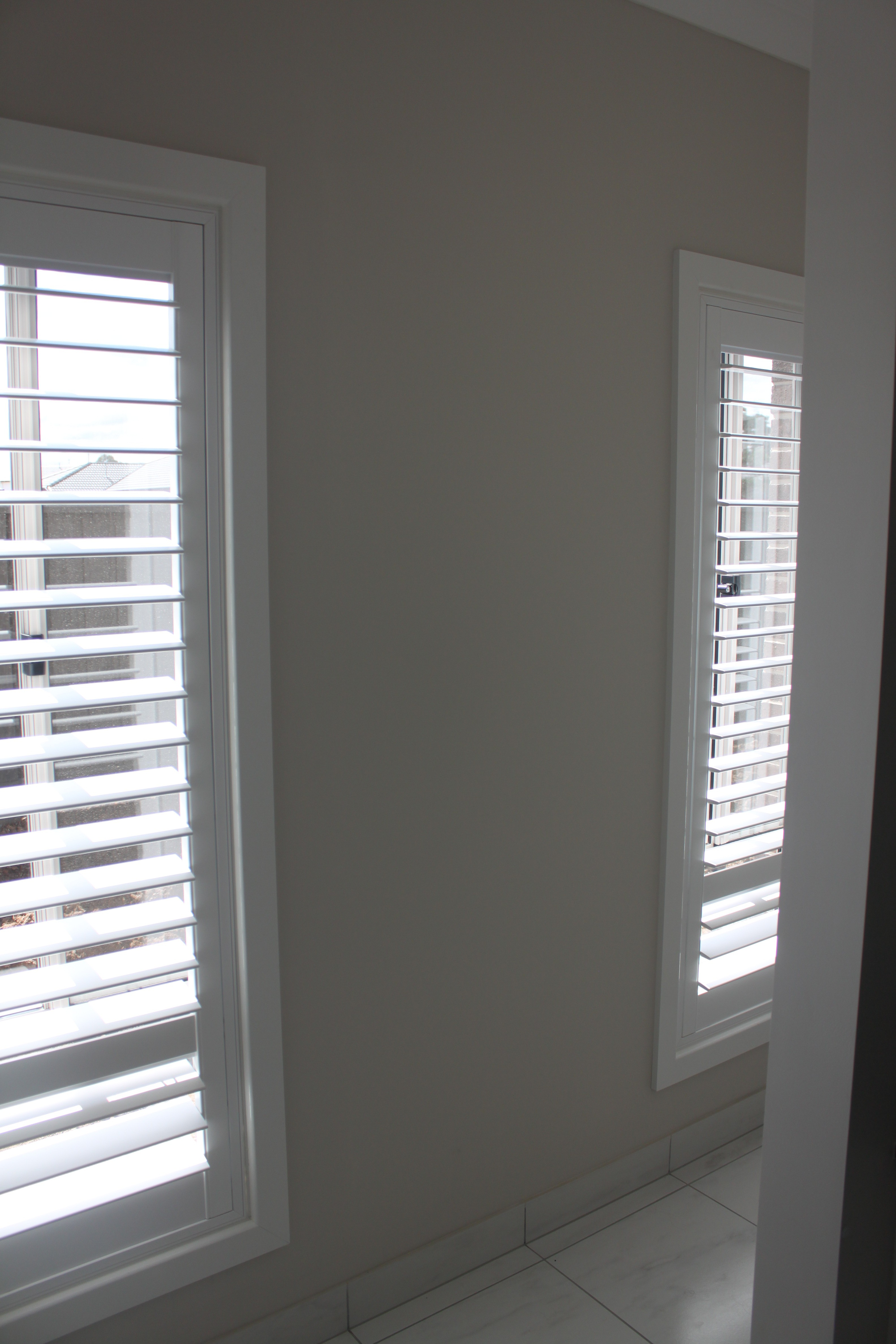 water plantation shutters for bathroom
