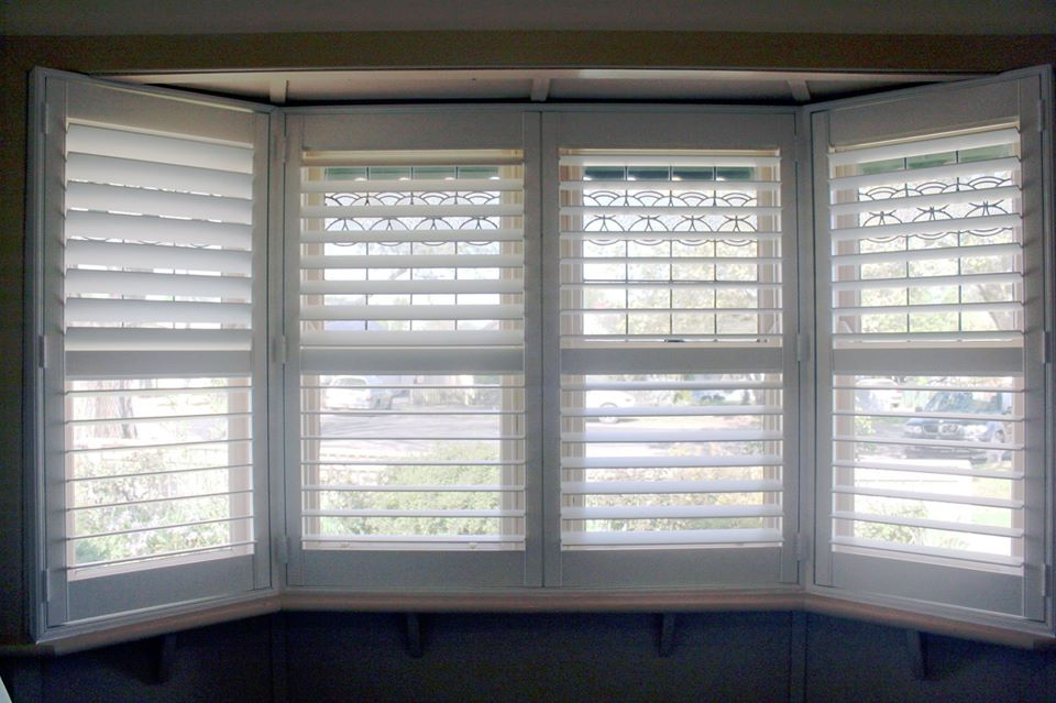 plantation shutter bay window