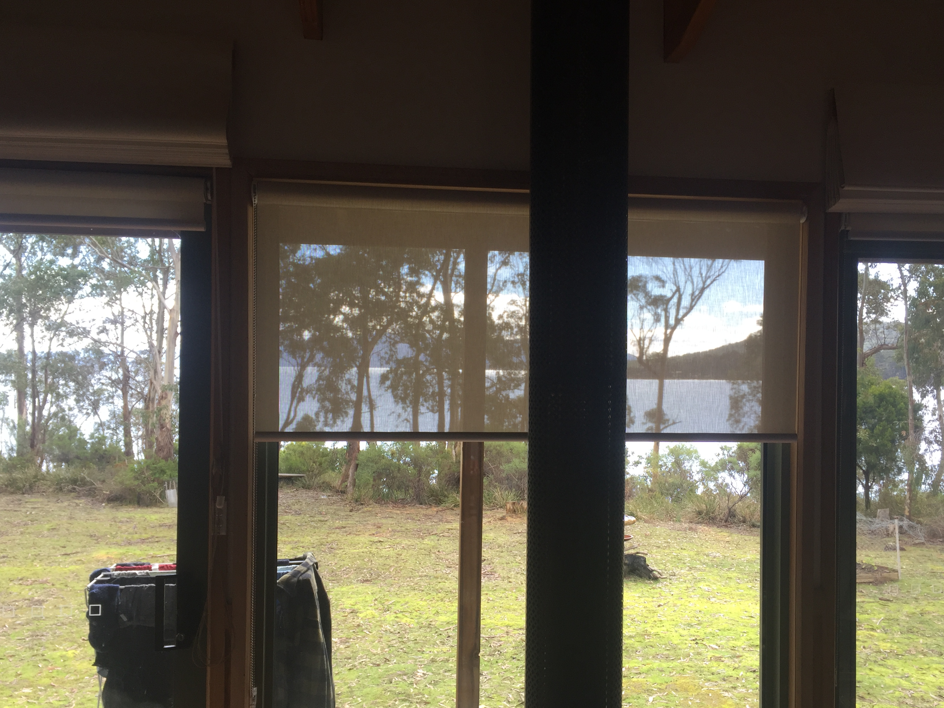 sunscreen roller blinds on Bruny Island