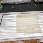 pleated blind fabric for caravan blinds