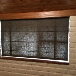 linen roman blinds
